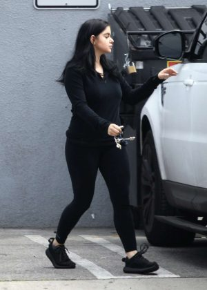 Ariel Winter in Black Spandex with her boyfriend in Los Angeles