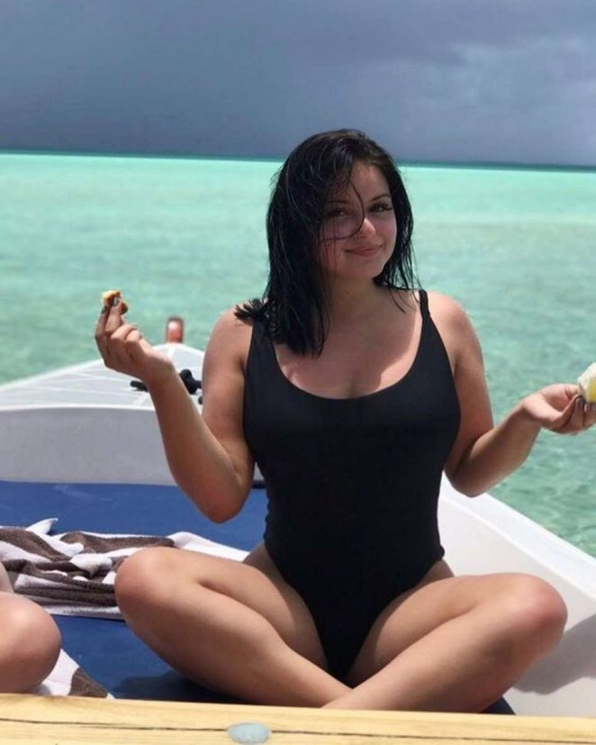 Ariel Winter in Black Swimsuit - Snapshot