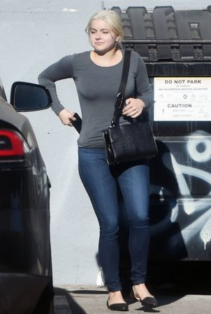 Ariel Winter - In denim pants leaving a studio in North Hollywood