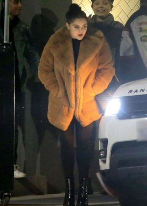 Ariel Winter in Fur Coat with Levi Meaden out in West Hollywood
