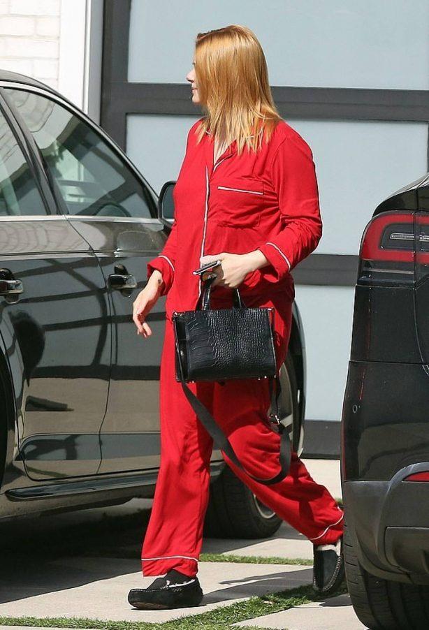 Ariel Winter in Red Pyjama in Los Angeles