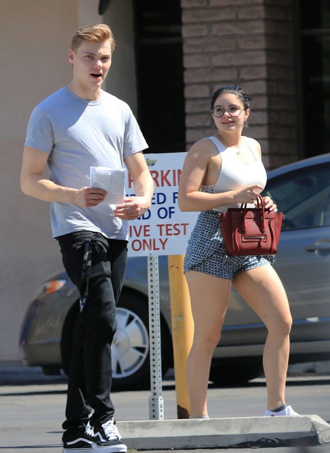 Ariel Winter in Shorts and Levi Meaden out in Los Angeles