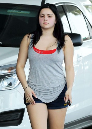 Ariel Winter in Shorts Getting gas -12