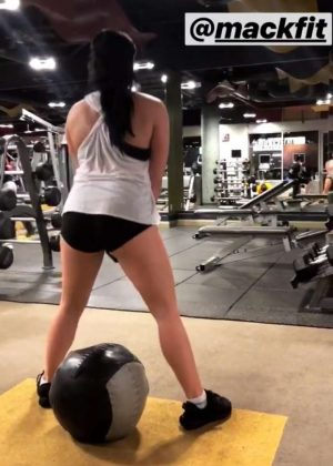 Ariel Winter in Shorts Workout