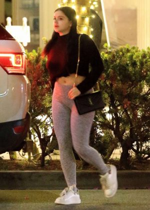 Ariel Winter in Spandex with Levi Meaden out in Beverly Hills