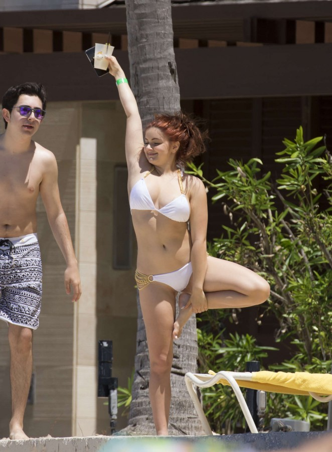 Ariel Winter in White Bikini in Bahamas adds
