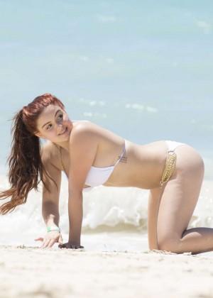 Ariel Winter in White Bikini 2016 -21