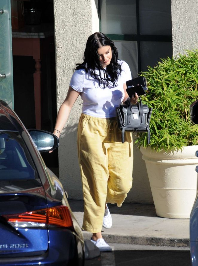 Ariel Winter in Yellow Pants - Out in Los Angeles