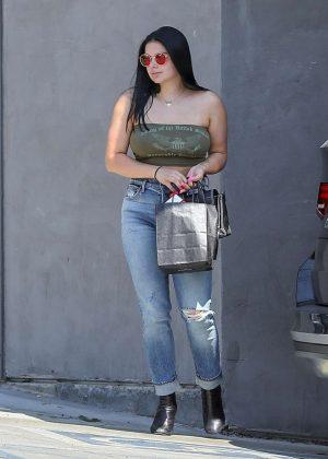 Ariel Winter - Leaving Nine Zero One salon in LA
