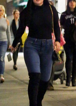 Ariel Winter in Skinny Jeans out in Central Park