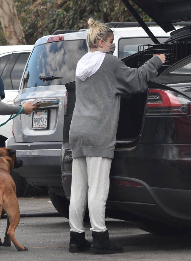 Ariel Winter - Seen while visit veterinarian in Studio City - California