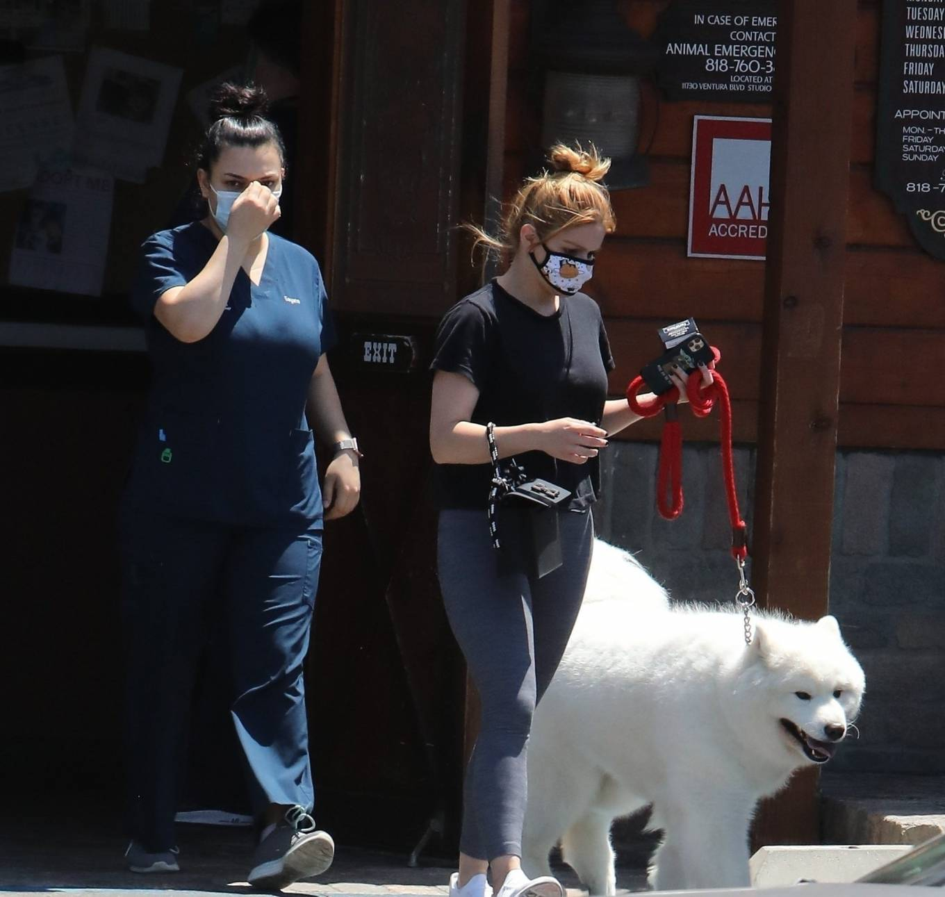 Ariel Winter 2020 : Ariel Winter – Takes her dog to the Veterinarian for a routine check up in Studio City-07