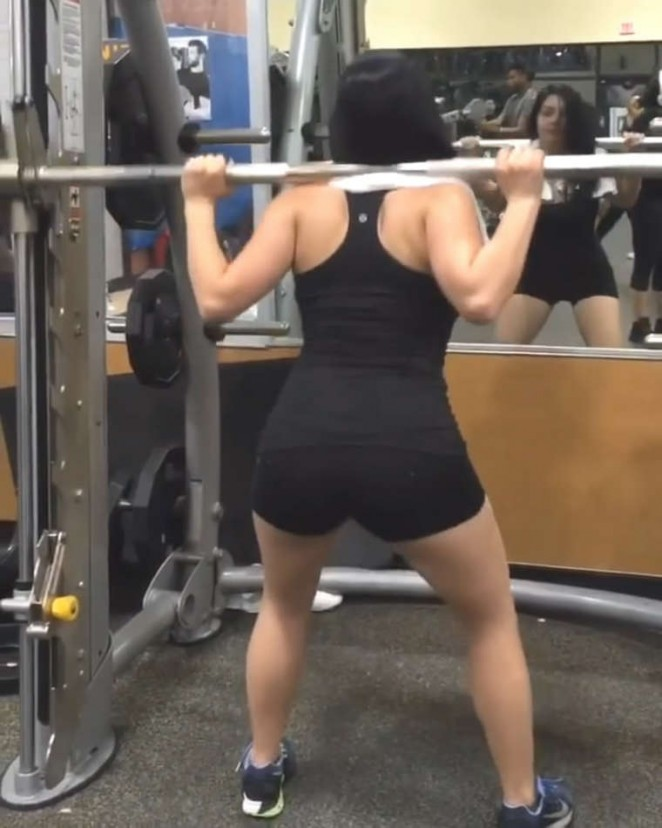 Ariel Winter Workout in Gym - Social Media Pics