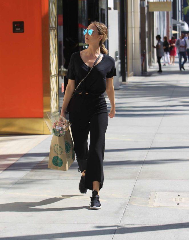 Arielle Kebbel buys flowers in Beverly Hills