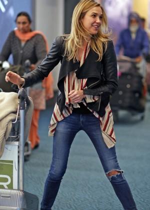 Arielle Kebbel in Jeans Arrives in Vancouver