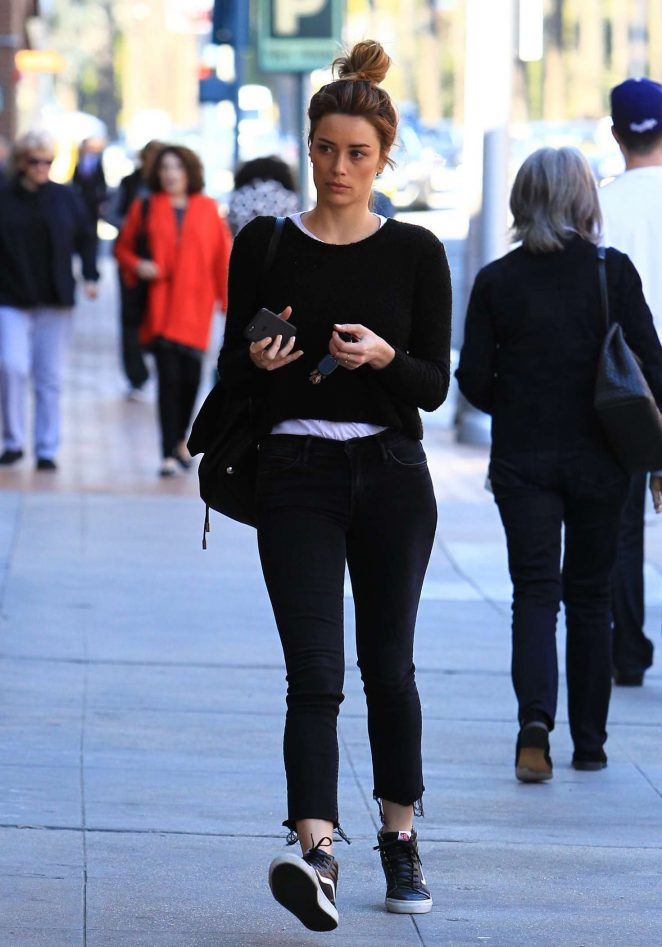 Arielle Vandenberg out shopping in Beverly Hills