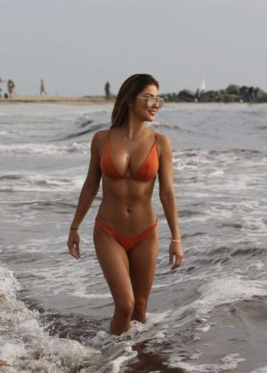 Arriany Celeste - Wearing Bikini on Beach in Venice