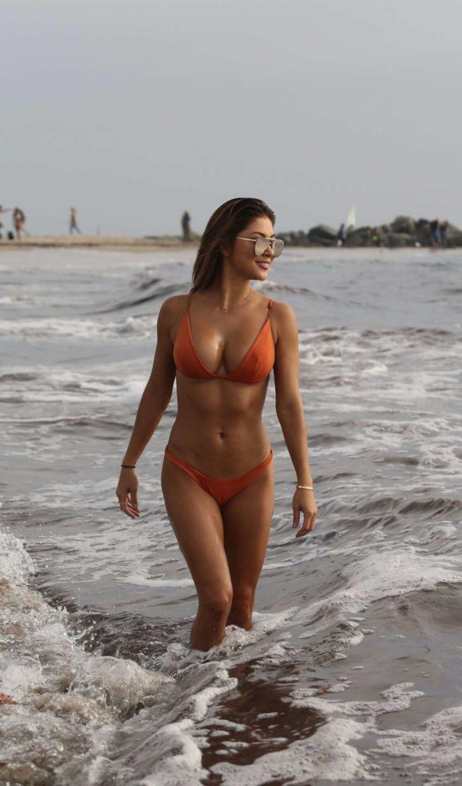 Arriany Celeste - Wearing Bikini on Beach in Venice