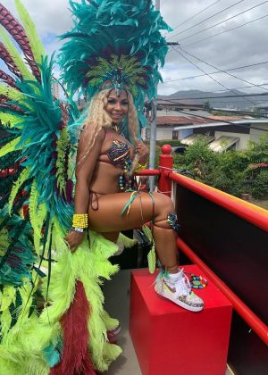 Ashanti - In carnival costume at carnival in Trinidad and Tobago