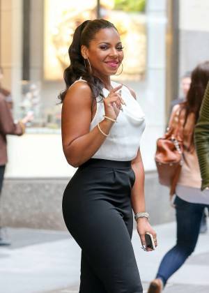 Ashanti in Tight Pants Out in NYC