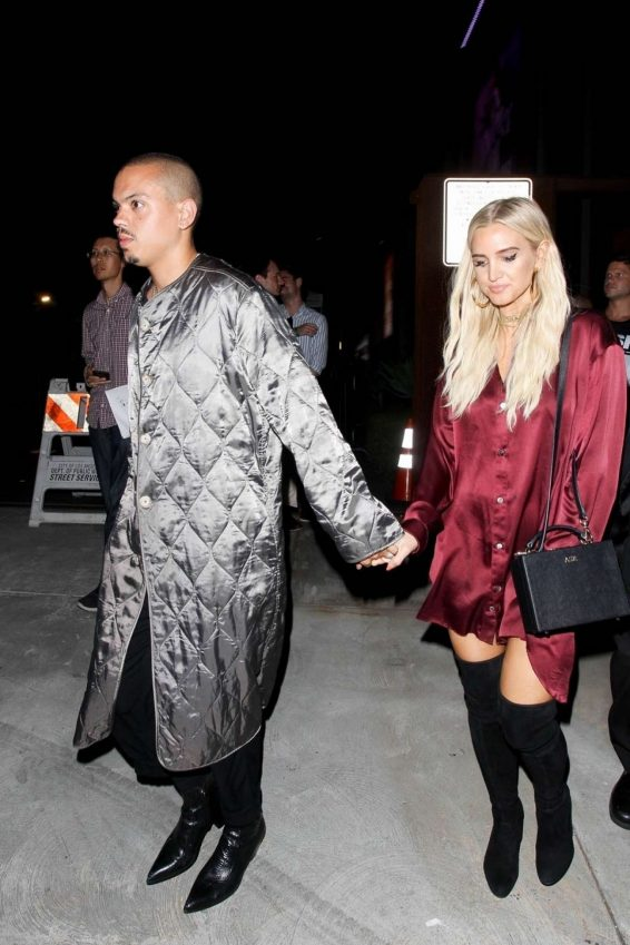 Ashlee Simpson and Evan Ross at Weedmaps Museum of Weed in Hollywood