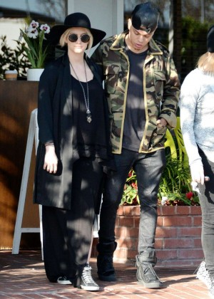 Ashlee Simpson and Evan Ross Leaving Fred Segal in West Hollywood