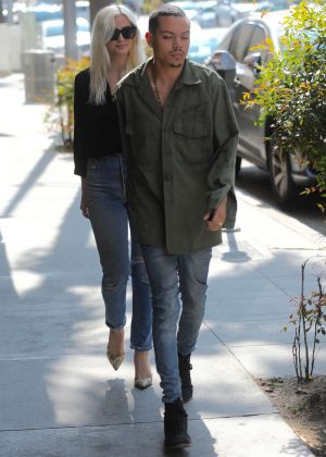Ashlee Simpson and Evan Ross out in Beverly Hills