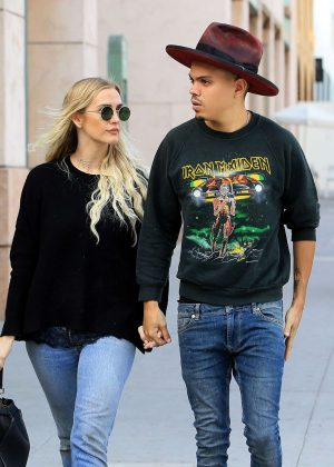 Ashlee Simpson and Evan Ross Shopping in Beverly Hills
