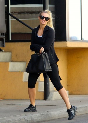Ashlee Simpson in Tights goes to the gym in Los Angeles