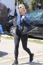 Ashlee Simpson in Tights - Hits the gym in Los Angeles