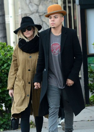 Ashlee Simpson and Evan Ross Shopping in Los Angeles