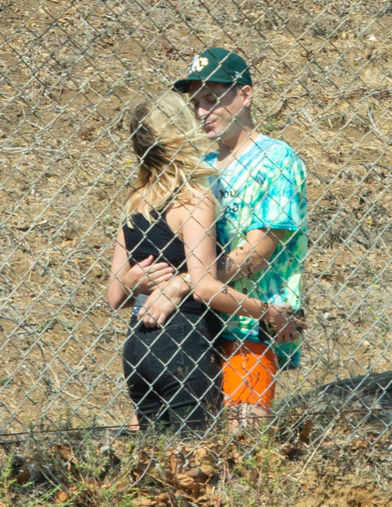 Ashley Benson 2020 : Ashley Benson and boyfriend G-Eazy as she arrives at his video shoot in Malibu-05