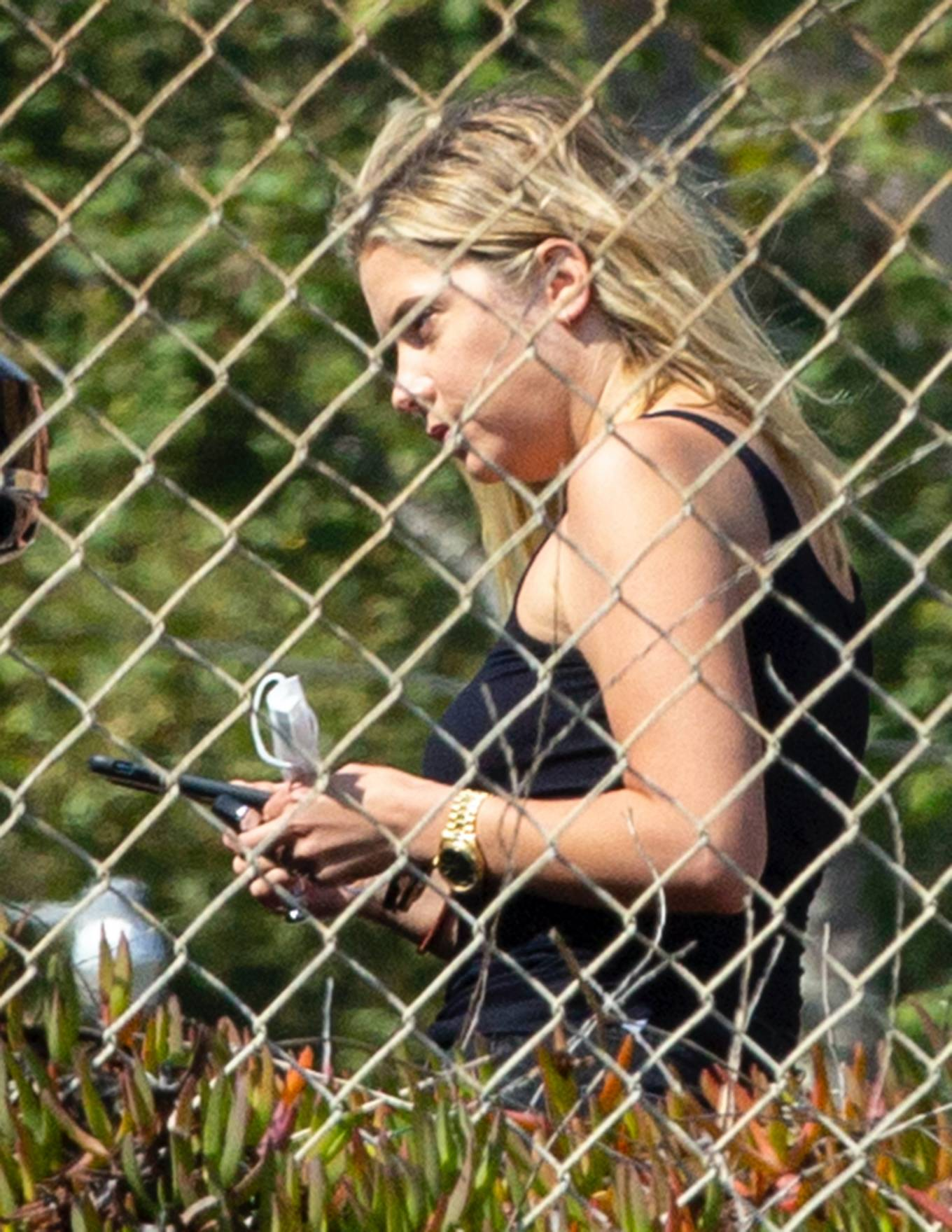 Ashley Benson 2020 : Ashley Benson and boyfriend G-Eazy as she arrives at his video shoot in Malibu-07