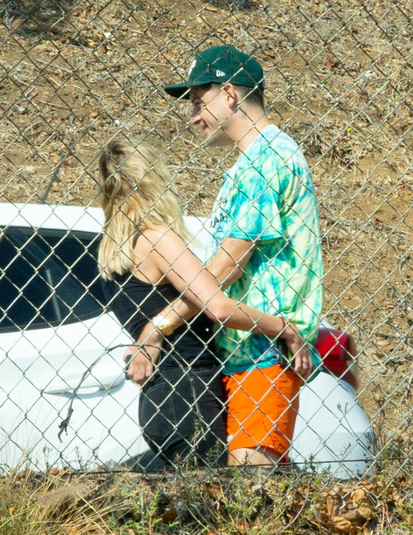 Ashley Benson 2020 : Ashley Benson and boyfriend G-Eazy as she arrives at his video shoot in Malibu-08