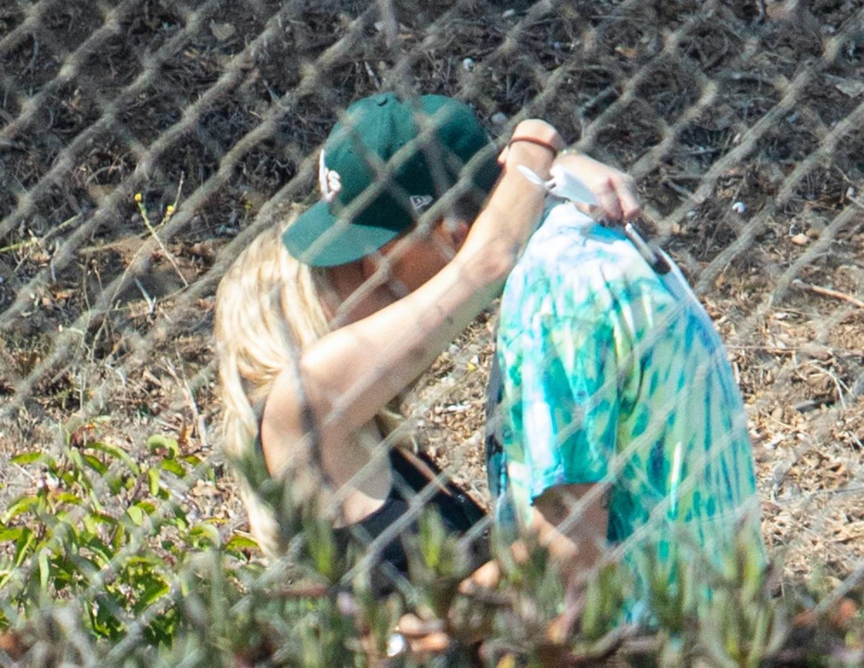 Ashley Benson 2020 : Ashley Benson and boyfriend G-Eazy as she arrives at his video shoot in Malibu-09