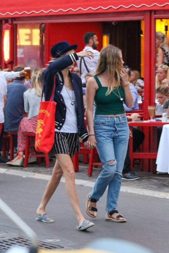 Ashley Benson and Cara Delevigne – Out in Saint Tropez-04