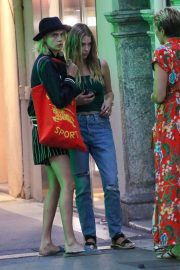 Ashley Benson and Cara Delevigne - Out in Saint Tropez