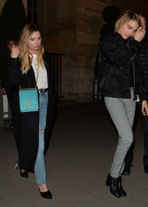 Ashley Benson and Cara Delevingne - Heads out for the night in Paris