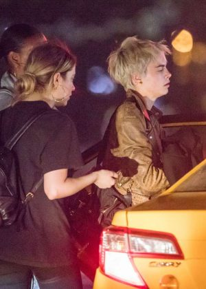 Ashley Benson and Cara Delevingne - Leaving a Party at Milk Studio in NYC