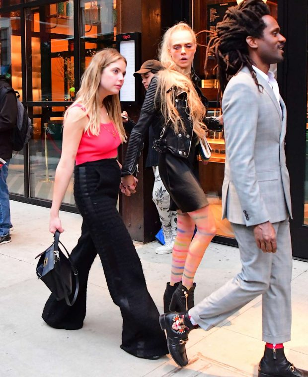 Ashley Benson and Cara Delevingne - Leaving Met Gala After Party in NY