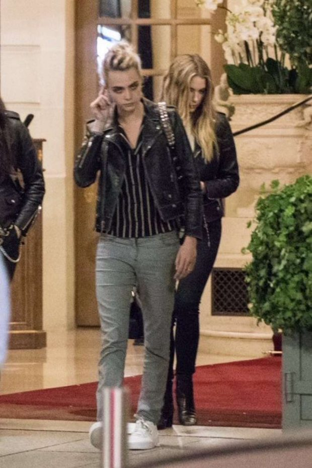 Ashley Benson and Cara Delevingne: Leaving Ritz Hotel in Paris adds-08