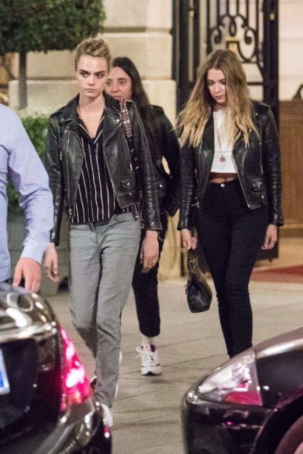 Ashley Benson and Cara Delevingne: Leaving Ritz Hotel in Paris adds-16