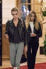 Ashley Benson and Cara Delevingne - Leaving Ritz Hotel in Paris adds