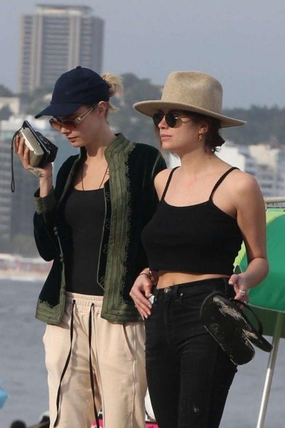 Ashley Benson and Cara Delevingne - On Copacabana's beach in Rio De Janeiro