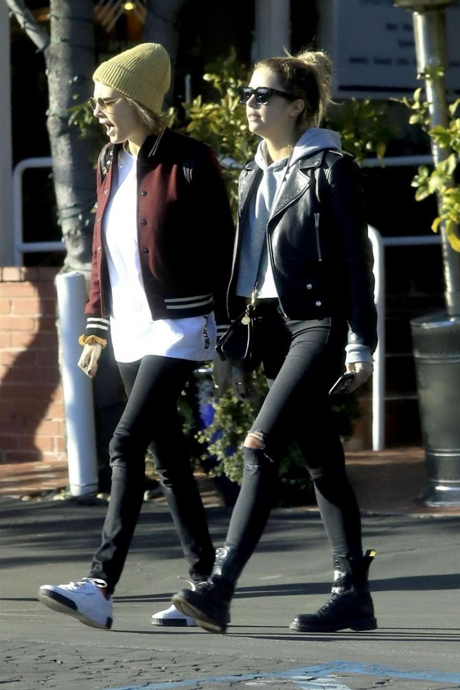 Ashley Benson and Cara Delevingne - Outside Fred Segal in West Hollywood