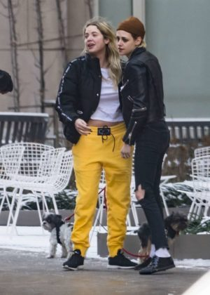 Ashley Benson and Kristen Stewart - Hang out together in NYC