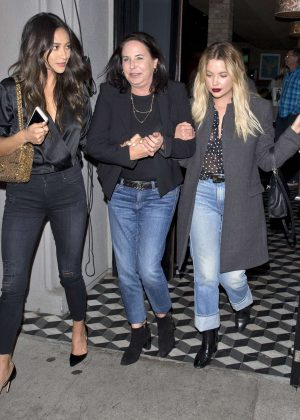 Ashley Benson and Shay Mitchell at Craigs Restaurant in West Hollywood