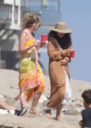 Ashley Benson and Vanessa Hudgens at the beach in Malibu