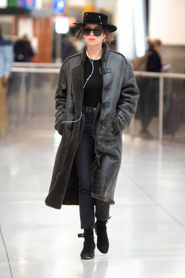 Ashley Benson - Arrival at JFK Airport in New York