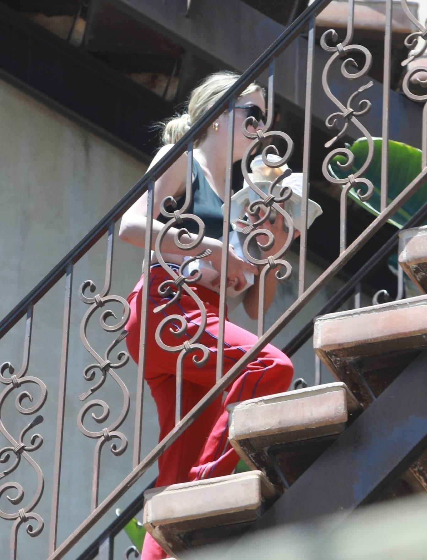 Ashley Benson - Arrives at boyfriend G-Eazy's house in Los Angeles